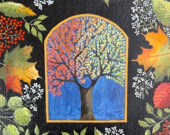 """SALE: Autumnal Contemporary Art titled """"Cascade"""" by Christine  Graf"""