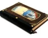 Ocean art, church art, art journal, blank book, hand painted church, adventure journal, travel diary, greek art, writing notebook