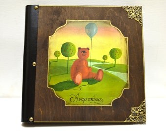 Little bear, photo display, kids birthday favor, baby's first year, bear figurine, little teddy bear, baby album keepsake