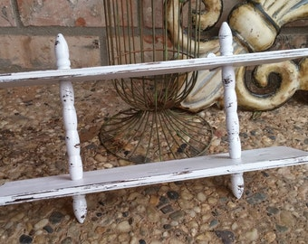 Distressed Vintage Shelf, Shabby Decor, Wall Ledge Shelf, Home Decor, Off White, Nursery Decor
