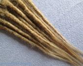 """CUSTOM Human hair dreadlock extenders extensions, 14"""" hair, 10 pcs"""