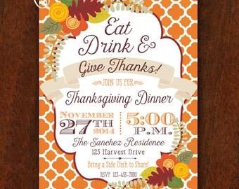 invitation feast autumn invitation fall invitation pumpkin patch pumpkin 5x7 fall shower fall