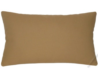 Caramel Brown Solid Decorative Throw Pillow Cover / Pillow Case / Cushion Cover / Cotton / 12x18""