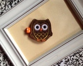 Autumn Owl Hair Clippie