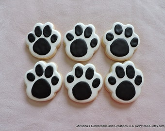 Pawprints Hand Decorated Sugar Cookies (#2370)