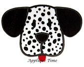 Instant Download Puppy Face Machine Embroidery Applique Design 4x4 5x7 and 6x10