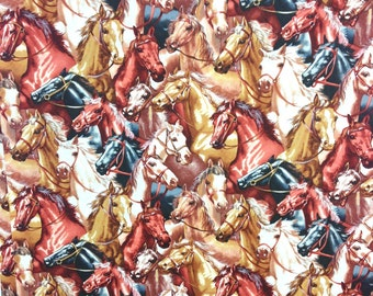 Horse print Fabric by the yard, 100% Cotton by High Fashion fabrics