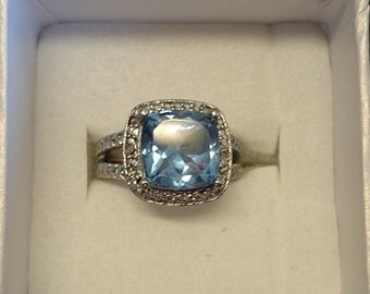 Ice Blue Austrian Crystal Ring