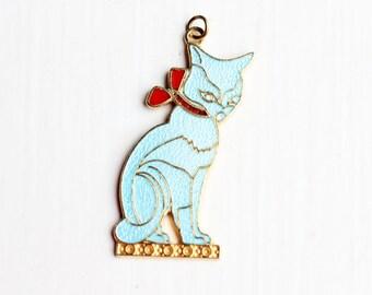 Cat Charm Blue, Cat Charm, Enamel Charm