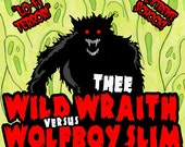 wolfboy slim and thee wild wraith split cd