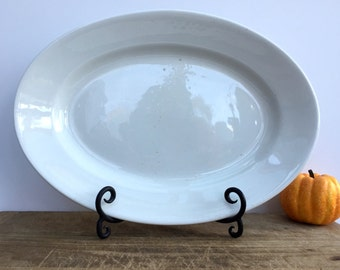 Antique ironstone platter .