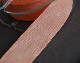 """1"""" Peach Moire Ribbon"""