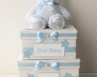 Card box for Baby, 1st communion card box, baby shower card box - Custom Made to Order