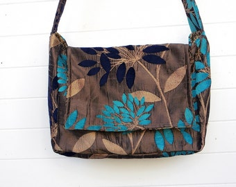 Floral Bag Purse Cut Chenille