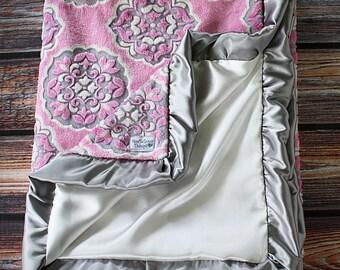 Minky Blanket, Mar Bella Minky Blanket, Baby Minky Blanket, Soft Minky Blanket, Sofia Barcelona Minky, Child Minky, Adult Minky, Grey Minky