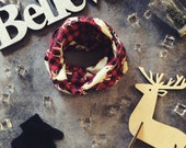 Boy Holiday Outfit/Toddler Infinity Scarf/Toddler Scarf/Little Boy Infinity scarf,Baby/Flannel Reindeer Scarf/Christmas Gift/Gift Under 25