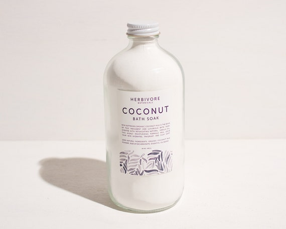 Coconut Milk Bath Soak. Milk Bath. 16 oz. Vegan.