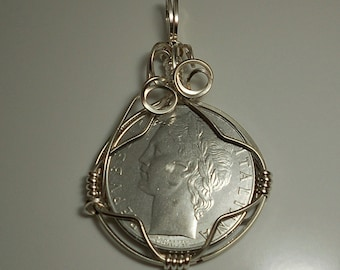 Italy Vintage Coin Pendant 1979