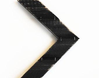 Handmade Mini Wood Arrow Chevron Wall Decor Distressed Black