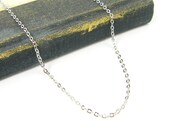 18 Inch Rhodium Necklace Chain Antique Silver Medium Link Plated Oval Chain with 20 Inch Extender |CH3-2|1