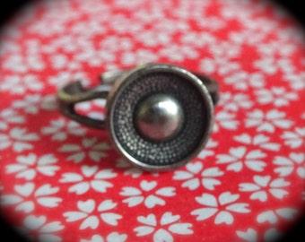 Vintage Button Adjustable Ring