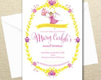 Pinkalicious Personalized Printable Digital Birthday Invitations