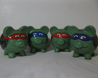 Personalized, Handpainted,  Martial Arts Tortoise/Turtle Piggy Bank - MADE TO ORDER