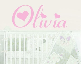 kids name wall decal-Girls room decor -Childrens Wall Decal -Nursery Wall Decal -baby wall sticker-Personalized