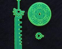 Busou Shinki 1/12 Gear theme sword and shield