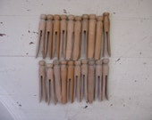 wooden clothes pins wooden clothes pegs  set of 20 laundry room decor crafts