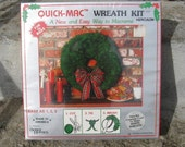 white macrame wreath kit christmas macrame wreath kit new old stock 12 inch wreath quick mac