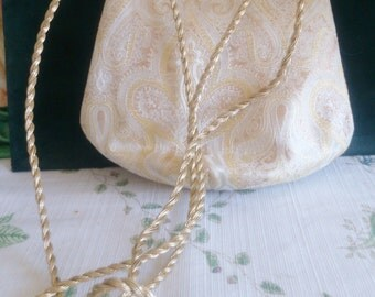 H L Brocade Evening Purse with Gold Twist Strap