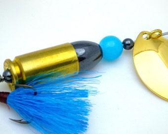 Bright Blue Bullet Fishing Lure