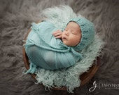 Newborn Hat, Classic Bonnet, Newborn Bonnet, Mint, Photo Prop