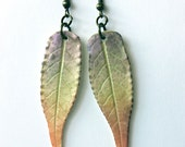 Leaf Earrings Lilac-Yellow-Peach
