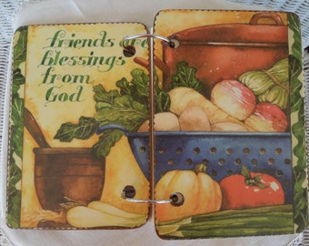 Vegetable Soup wooden book