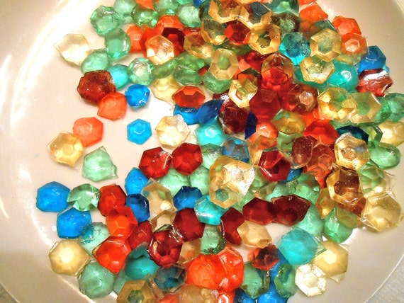 MULTI COLORED Party Candy Gems Edible Sugar Jewels Sugar