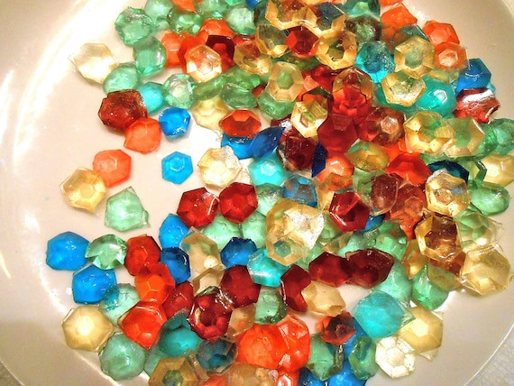 Edible Cake Decorations Jewels : MULTI COLORED Party Candy Gems Edible Sugar Jewels Sugar