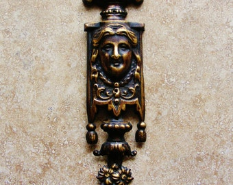 French pressed ormolu goddess furniture mount