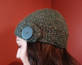 Green Chunky Button Flap Hat