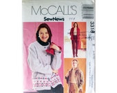 Jacket Pants Pattern McCall's 3318 Size 8 and 10 and 12