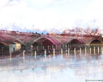 The bridge, original photography, wall decoration, unframed