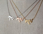 Great Lakes Necklace, Dainty Necklace