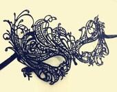 Black lace mask, crochet lace mask