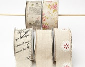 2.5 Inch Cotton Blend w/ Vintage Inspired Print by the Yard