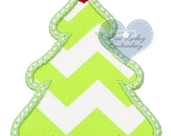 Christmas Tree Appliqued Embroidered Patch