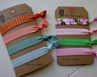Set of 4 Elastic Hair Ties *FREE shipping*