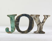 Beach Decor JOY Sign Vintage Style Nautical Wooden by Seastyle
