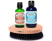 Beard Brush Set Beard Set Fathers Day Gift Gifts For Him Gift For Men BBS
