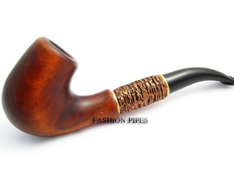 """Exclusive Collection Tobacco Pipe. Handcrafted smoking wooden pipes. Exclusive Design. """"BENT"""", acrylic copper. The Best Price Offer in FPS"""